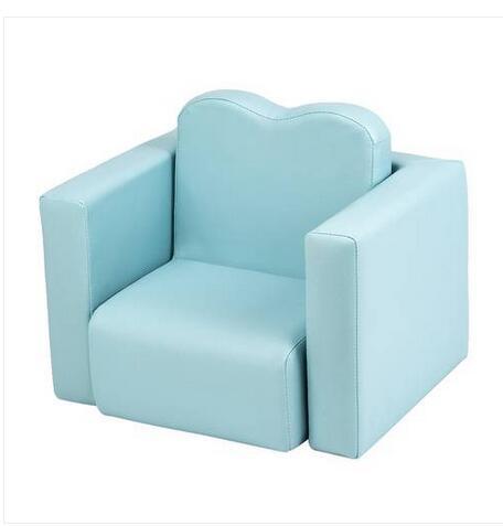Ücretsiz nakliye Toptan Çocuk Koltuk Çok Fonksiyonlu Koltuk Masa ve Sandalye Takımı Gök Mavisi