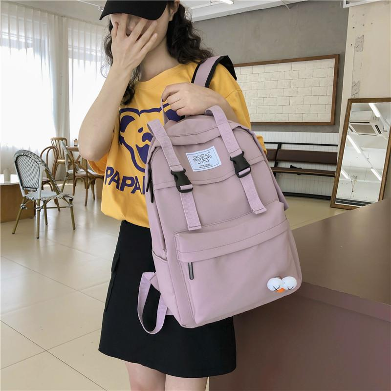 Sac à dos étanche Femmes Voyage Bagpack Femmes école Sacs pour Jeunes filles 2020 Style Coréen Ordinateur portable Mode Bookbag