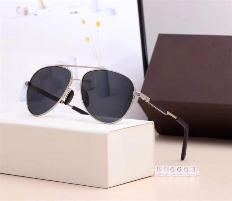 Самая высокая версия поляроид ВС очки мужские Солнцезащитные очки Vintage Pilot отличного качества с Случаи и коробки 806653