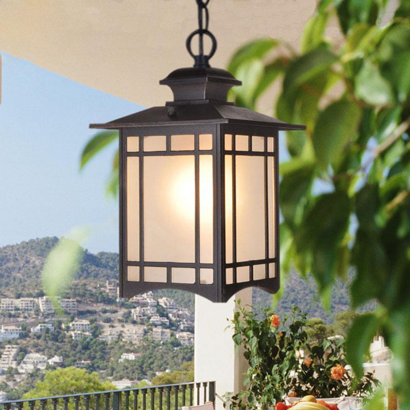 Modren Metal Waterproof Pendant Light Balcony Corridor Suspension Handing Ceiling Light Home Hotel Decor Chandelier PA0148