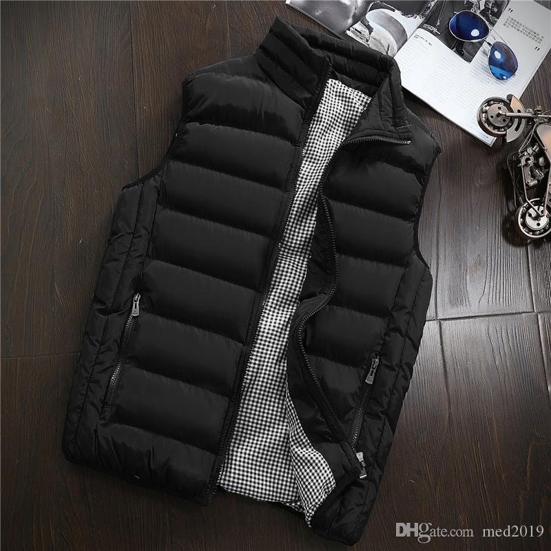 Yelek Erkek Yeni Şık 2019 İlkbahar Sonbahar Sıcak Kolsuz Ceket Erkekler Kış Yelek Erkek Yelek Casual Coats Erkek Artı boyutu 5XL