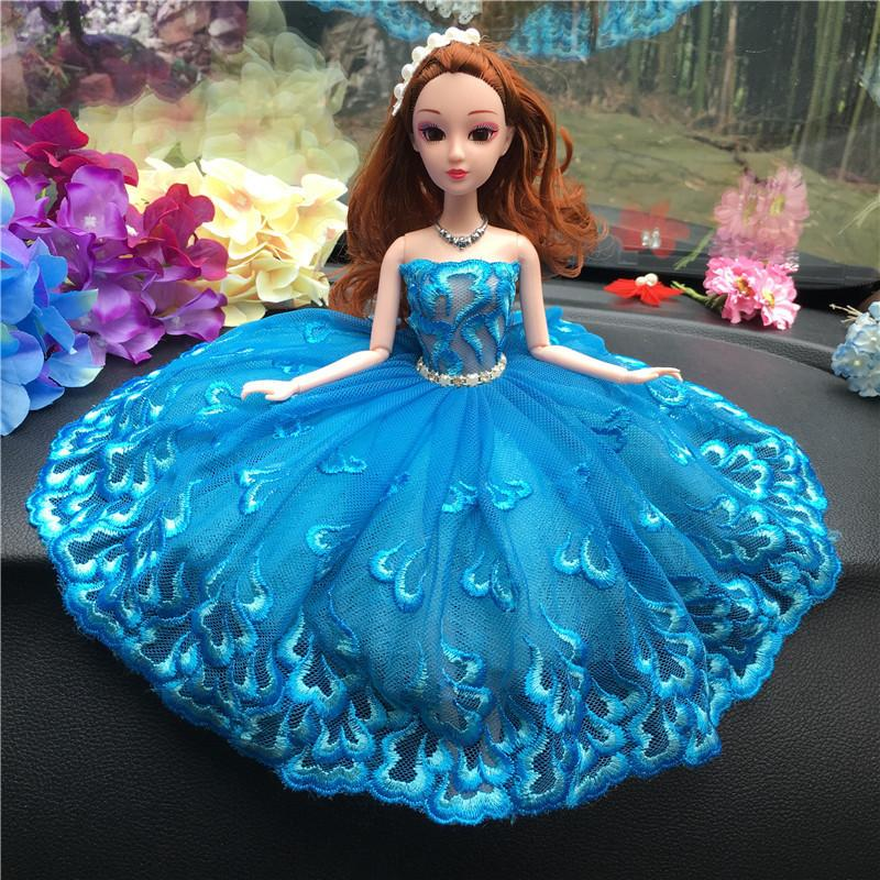 For Rather Than For Use Vehicle Originality Lovely Decoration Woman Wedding Dress Barbie Doll Gift Princess Toys Vehicle Within Ornaments