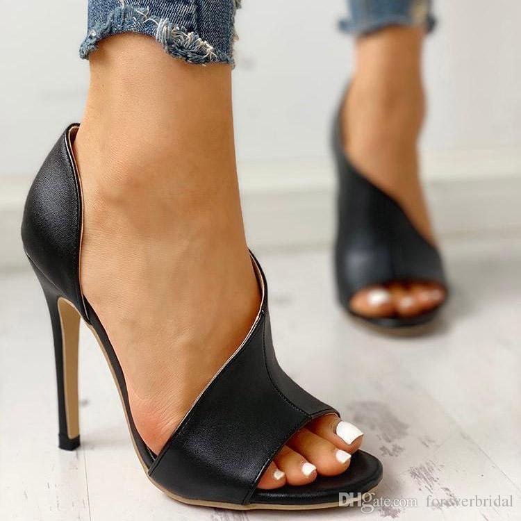 New Cut Out Designer Sandalen Mode Leder Super High Heels Sandalen Sexy Damenmode Luxus Sommer Open Toe Schuhe