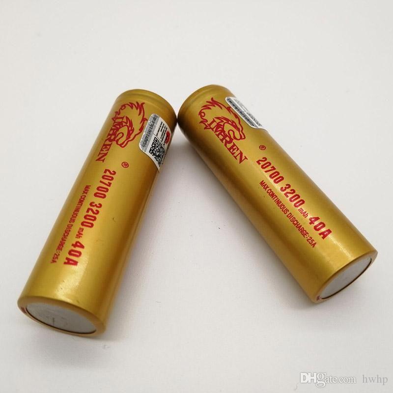 100% de alta calidad IMR 20700 Batería 3200mAh 3.7V 40A 18650 Baterías Batería de litio recargable Fedex Envío gratis