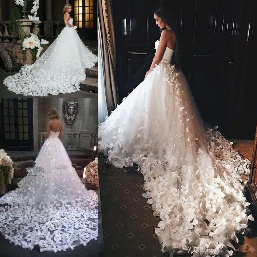 Speranza Couture Princess Свадебные платья с цветами и бабочками в соборе Поезд Арабский Ближний Восток Церковный сад Свадебное платье 282