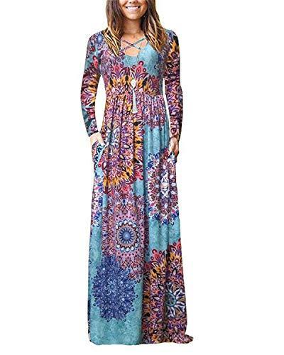 Mai şiir kadınların gündelik çiçek baskılı salıncak elbise sundress cepli