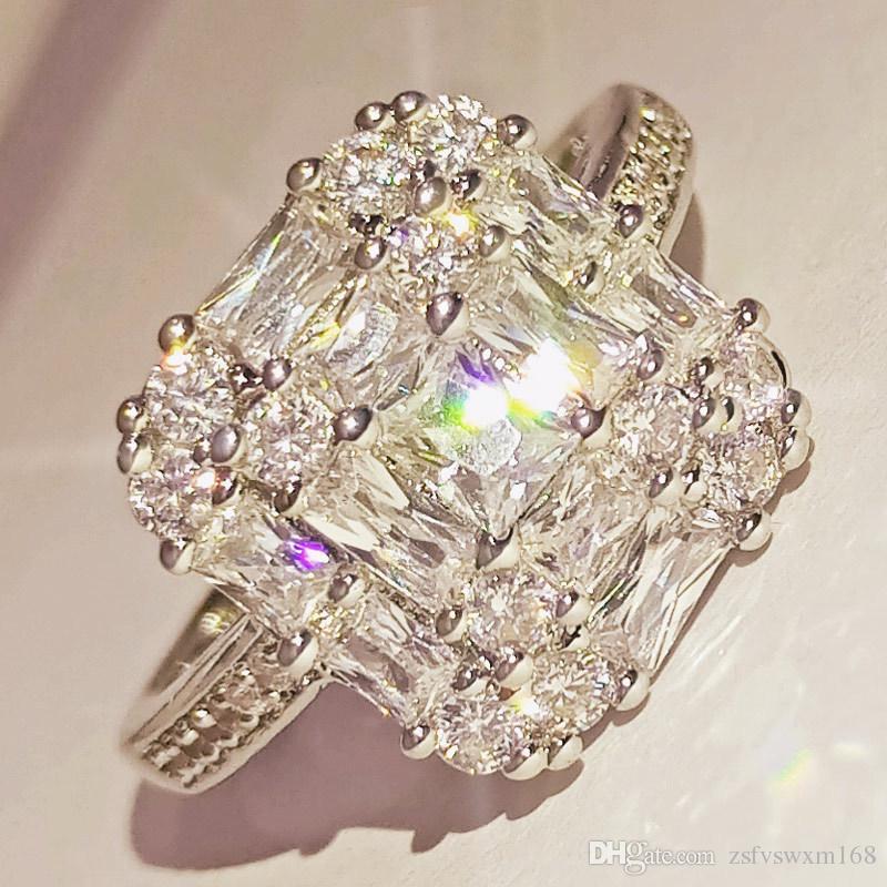 Bijoux bijou diamant plein bi-incrusté bague zircon fashionista bijoux cadeau