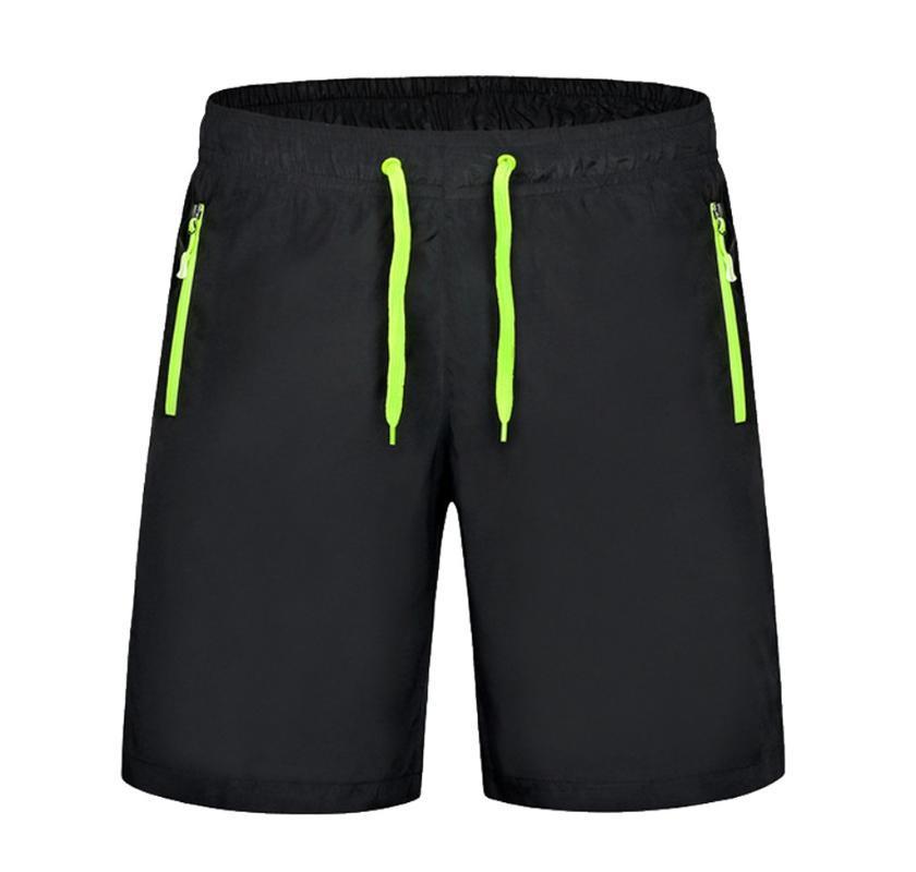 Es primavera y el verano los nuevos hombres sólidos pantalones atractiva playa del color de la cremallera del bolsillo elásticas troncos de nadada del traje de baño de deportes de la venda # YL1