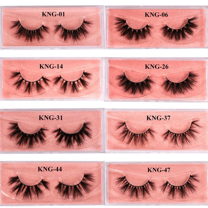 3d Mink pestañas 100% grueso real de visón pestañas postizas naturales para la belleza del maquillaje falso Extensión pestañas falsas pestañas