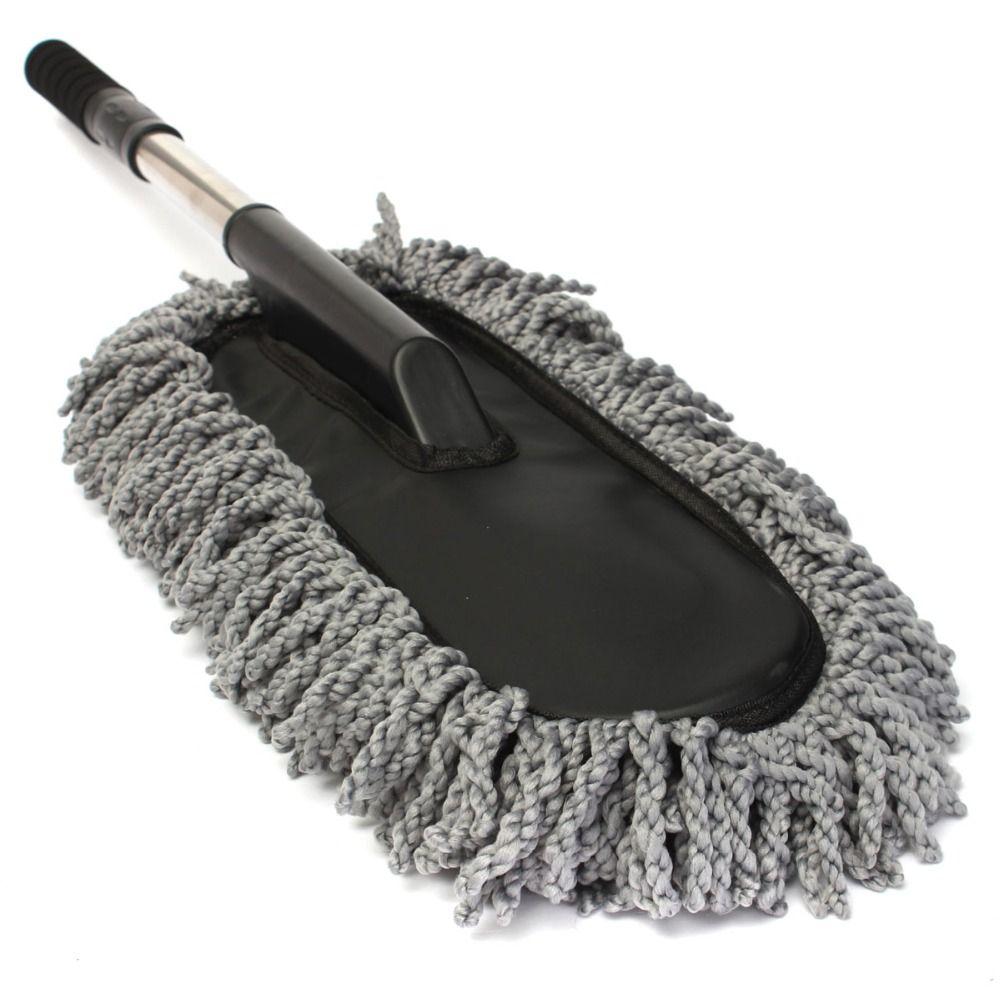 Car Wash Cleaning Brush Dust Wax Mop Microfiber Telescoping Dusting Clean Best H