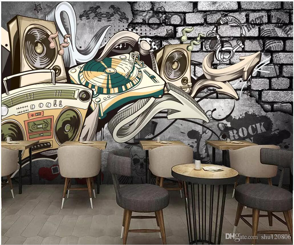 3d Wallpaper Custom Photo European Retro Nostalgic Hip Hop Street Graffiti Bar Ktv Room Home Decor 3d Wall Murals Wallpaper For Walls 3 D It Hd