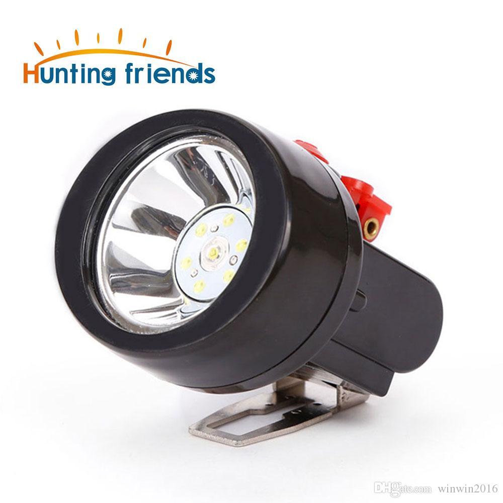 12pcs / lot caça Amigos recarregável Cap Mining Lâmpada Waterproof Explosão LED Miner Lâmpada telhado Farol para o exterior Works profissionais