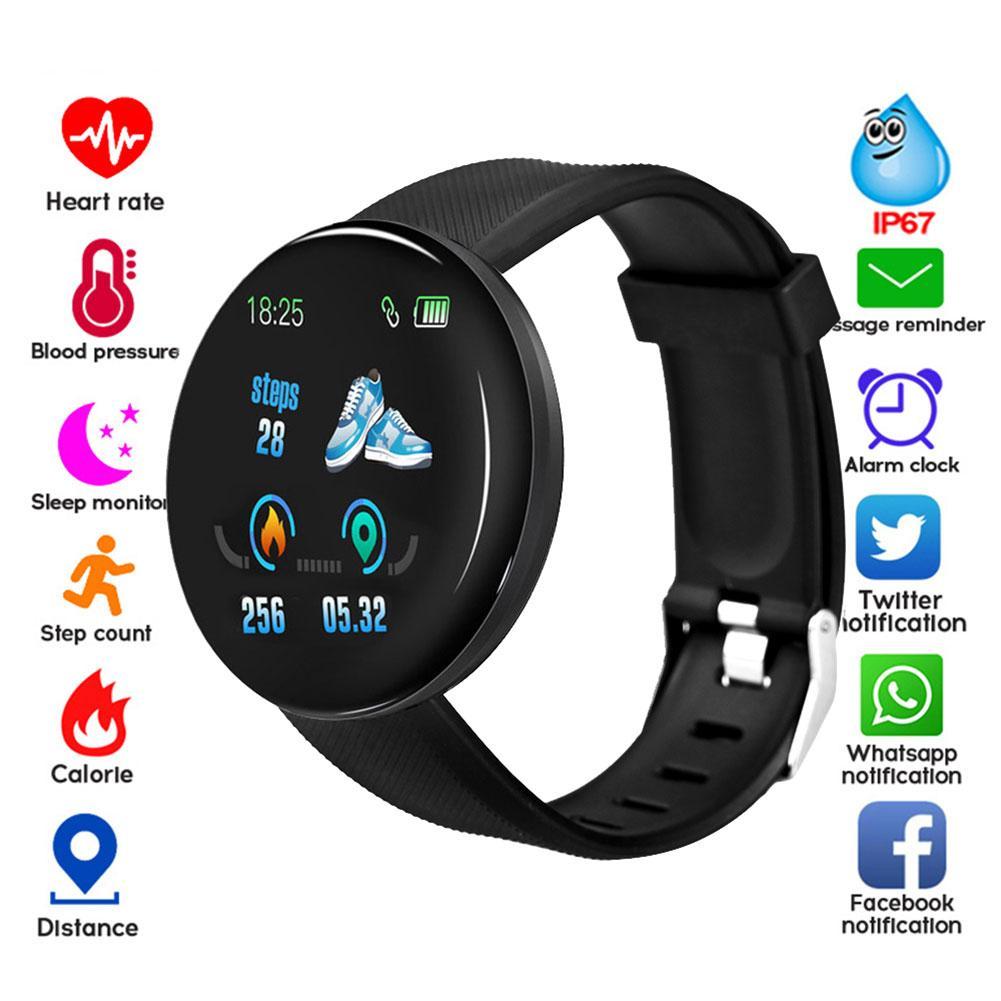 D18 Smart Watch Heart Rate Wristband Sports Watches Smart Bracelet Band Men Women Fitness Tracker Pedometer Smartwatch Android