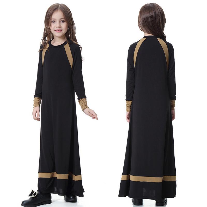 2020 novo modelo dubai crianças abaya a partir de 6 anos anos a 16 de idade velho manto roupas Ramadan kaftan jibab muçulmana vestida para o bebê g