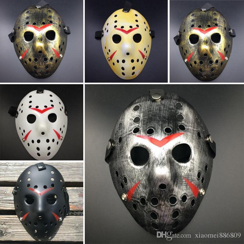 Horror Cosplay Venerdì 13 Parte 7 Jason Voorhees 1 pezzo Costume Latex Hockey Mask Vorhees