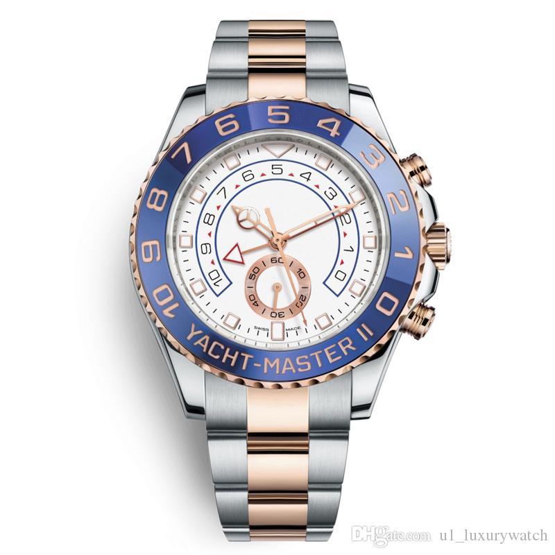 2020 U1 orologio meccanico automatico in acciaio inox pieno anello in ceramica orologio subacqueo profonda Guarda relogio oro eterno classico maschile