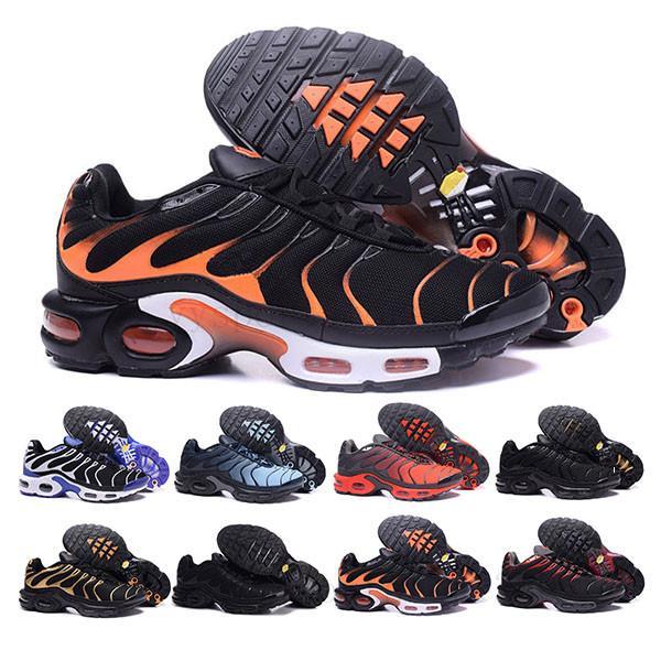 nike Tn plus air max airmax El envío rápido de calidad superior MENs Aire TN de los zapatos corrientes barato CESTA REQUIN malla transpirable CHAUSSURES Homme Noir Zapatillaes TN