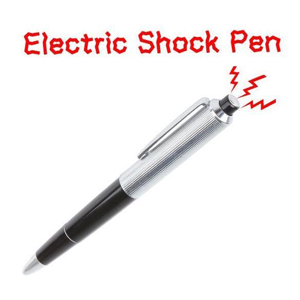 electric shock pen toy fancy ballpoint pens Gift Joke Prank Trick Fun shocking pen electric shock April Fool day toy W095699