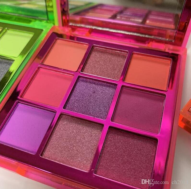 2019Newest Beleza Marca 9 cores Shimmer Sombra Make up da composição da sombra com 3 Styles Paleta e de alta qualidade