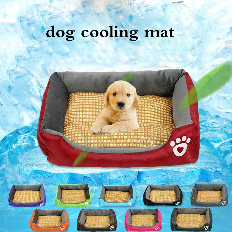 Summer Dog Cooling Mats Kennel Mat Pet Dog Bed Mats For Dogs Cats Sofa Portable Candy-colored Square Sleeping Pet Accessories
