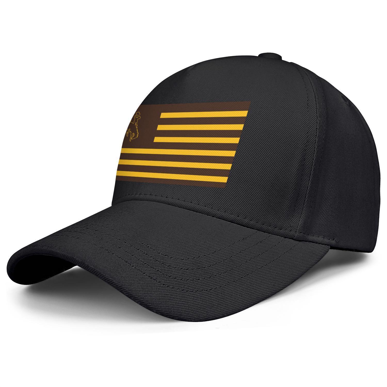 Fashion Wyoming Cowboys football logo Unisex Baseball Cap Cool Stylish Trucke Hats Flag series 3d effect flag Gray camouflage Golden Gay