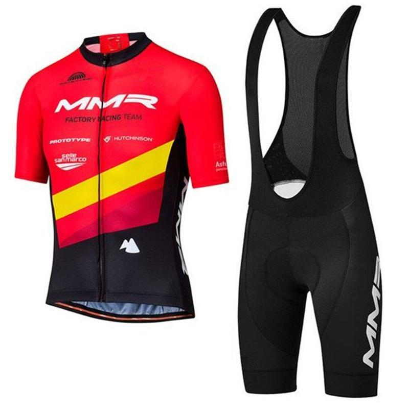 2020 MMR про велосипедную команду Kit мужчины летнего открытого набора Ciclismo велосипед Европейского конкурс одежду нагрудник гель шорты Роп де hombr