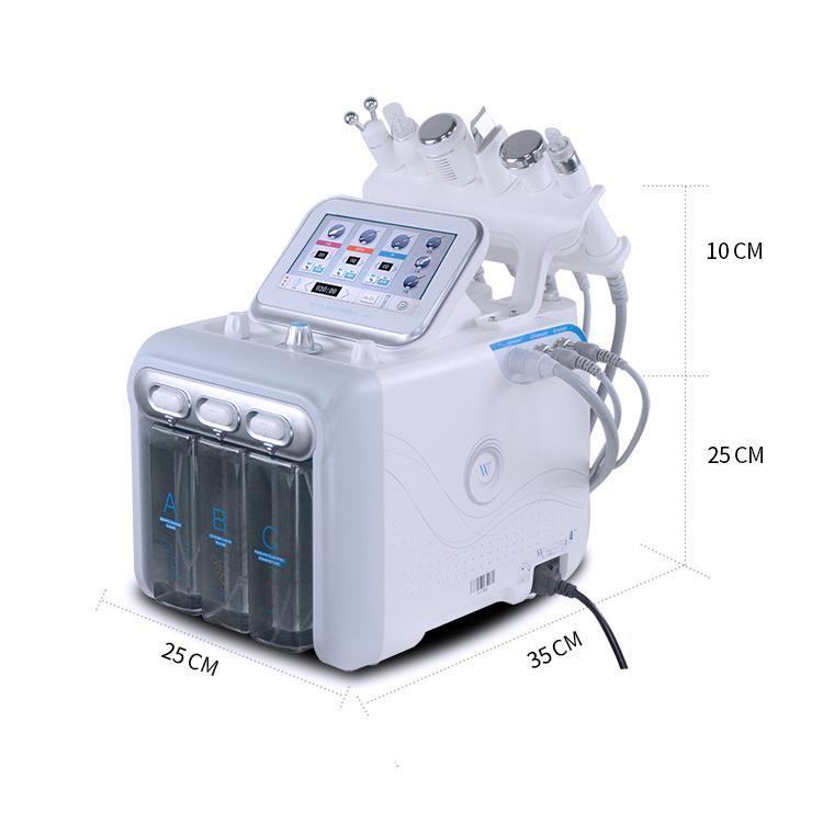معدات صالون تجميل اللوازم الطبية جلدي العناية بالبشرة آلة تقشير الجلد تقشير الماء مع 6 مقابض