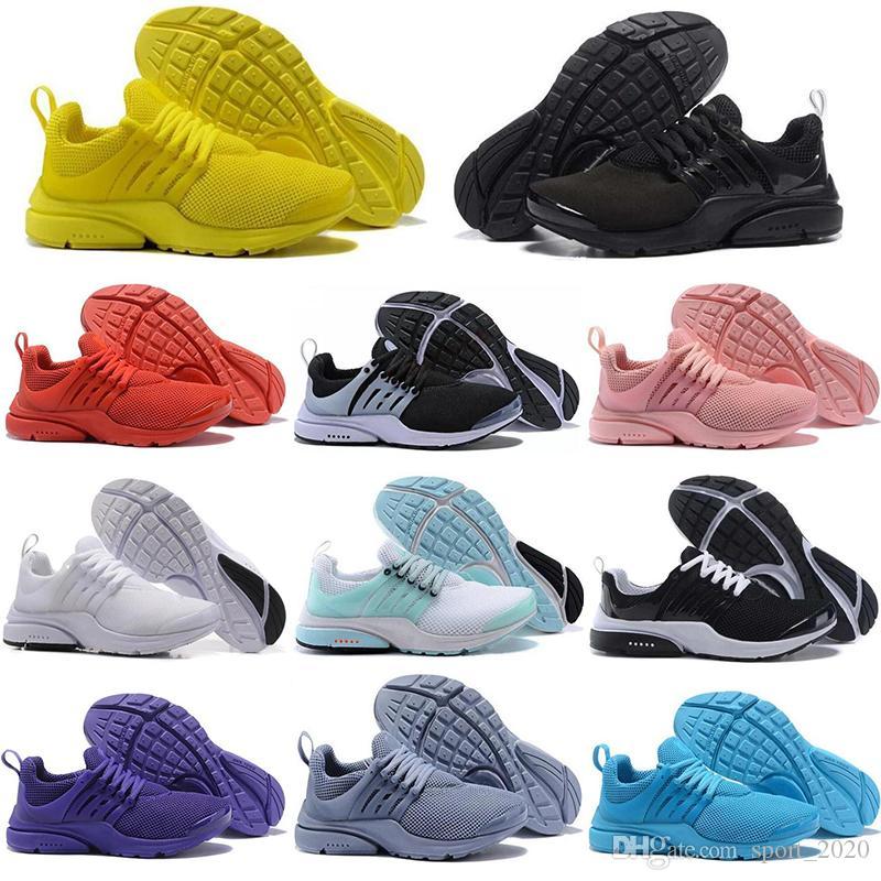 الجوارب حرة جديدة أفضل نوعية Prestos 5V الاحذية الرجال النساء المعزوفة الترا BR QS أصفر وردي الأسود أوريو الرياضة في الهواء الطلق حذاء 36-45