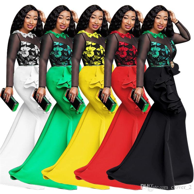 delle donne vestiti di un pezzo del pannello esterno vestito a maniche lunghe maglia vestito con pannelli di moda dal randello sera beach park womens klw2835 abbigliamento