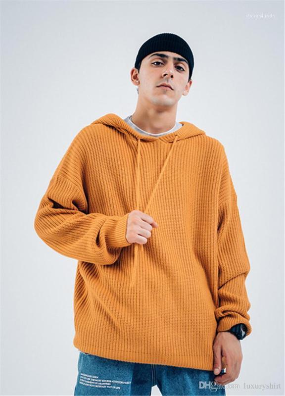 Suéter sudaderas sólido color diseñador para hombre tamaño suelta sudaderas con capucha para hombre de la manera del invierno Streetwear Hombre Ropa Plus