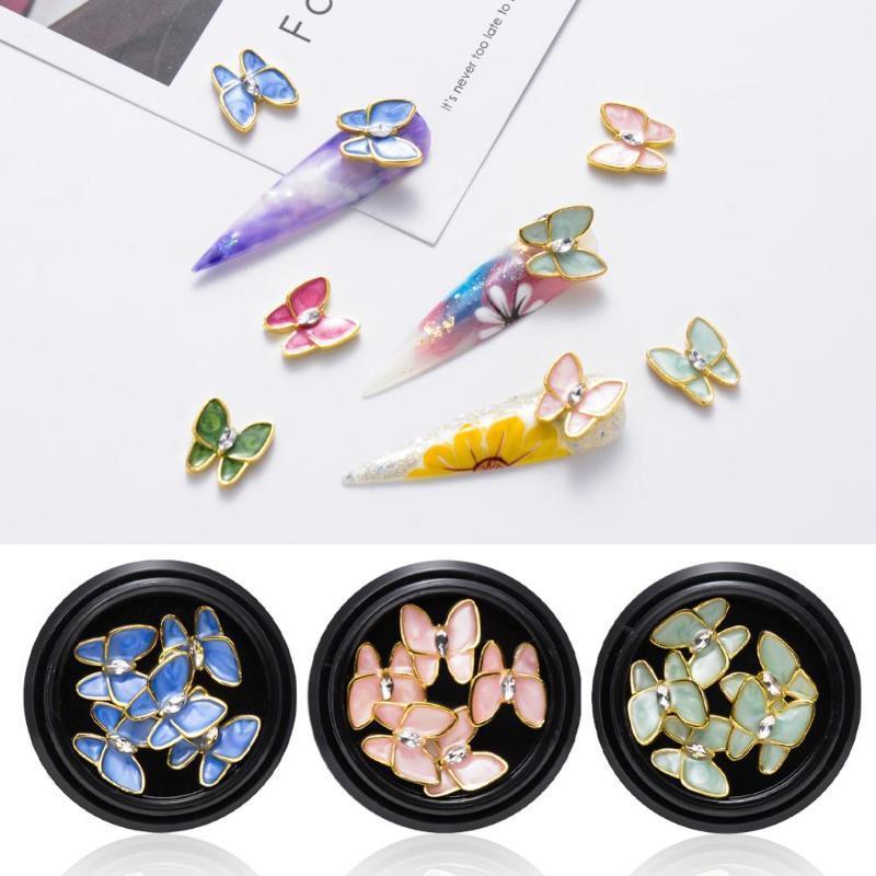 3D أحجار الراين لمسمار فراشة مجوهرات تسلق التصوير المجسم مسمار الفن زينة مانيكير الزركون الماس ملحقات
