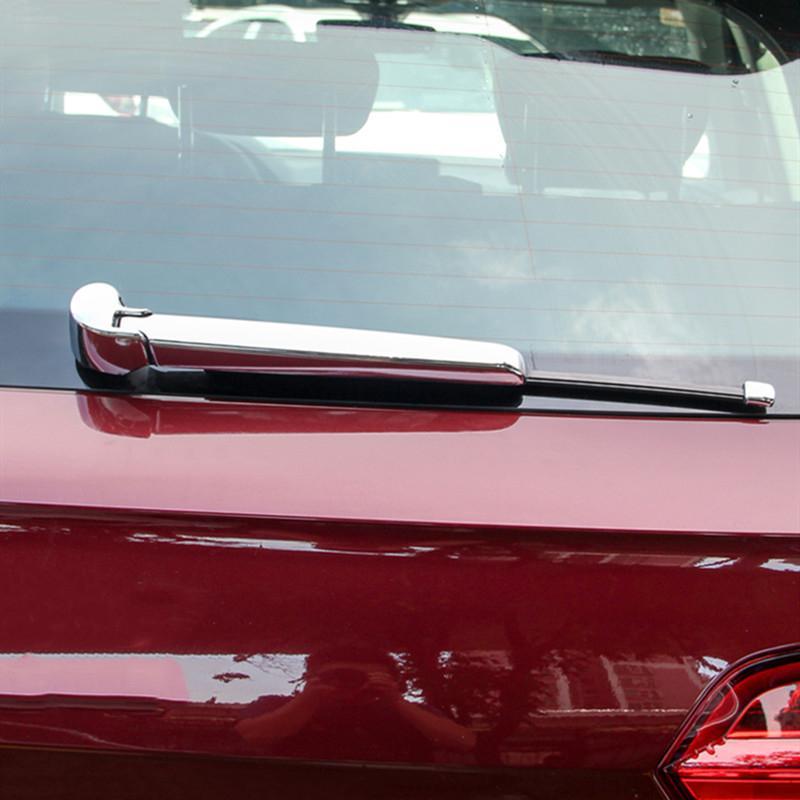 Auto Styling Chrome Heckscheibenwischer Dekoration Rahmen Streifen Abdeckung Trim 2 Stücke Für Audi Q5 FY 2018 2019 Außen Zubehör