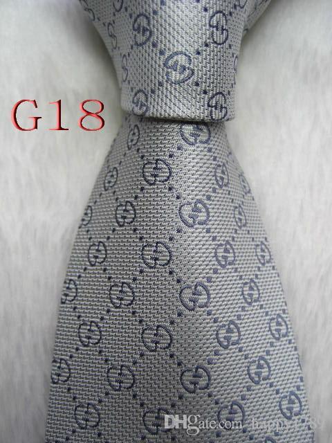 Cravate cravate pour hommes G18 # 100% soie tissée à la main en jacquard