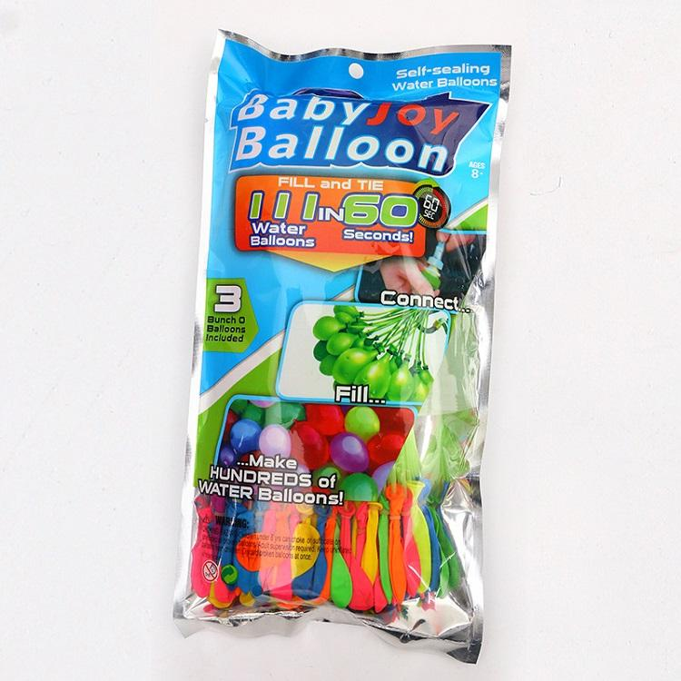 Latex ballon d'eau Balles Bombe Pompe à eau rapide injection Jeux d'été Plage eau sprinking remplissage rapide Ballons