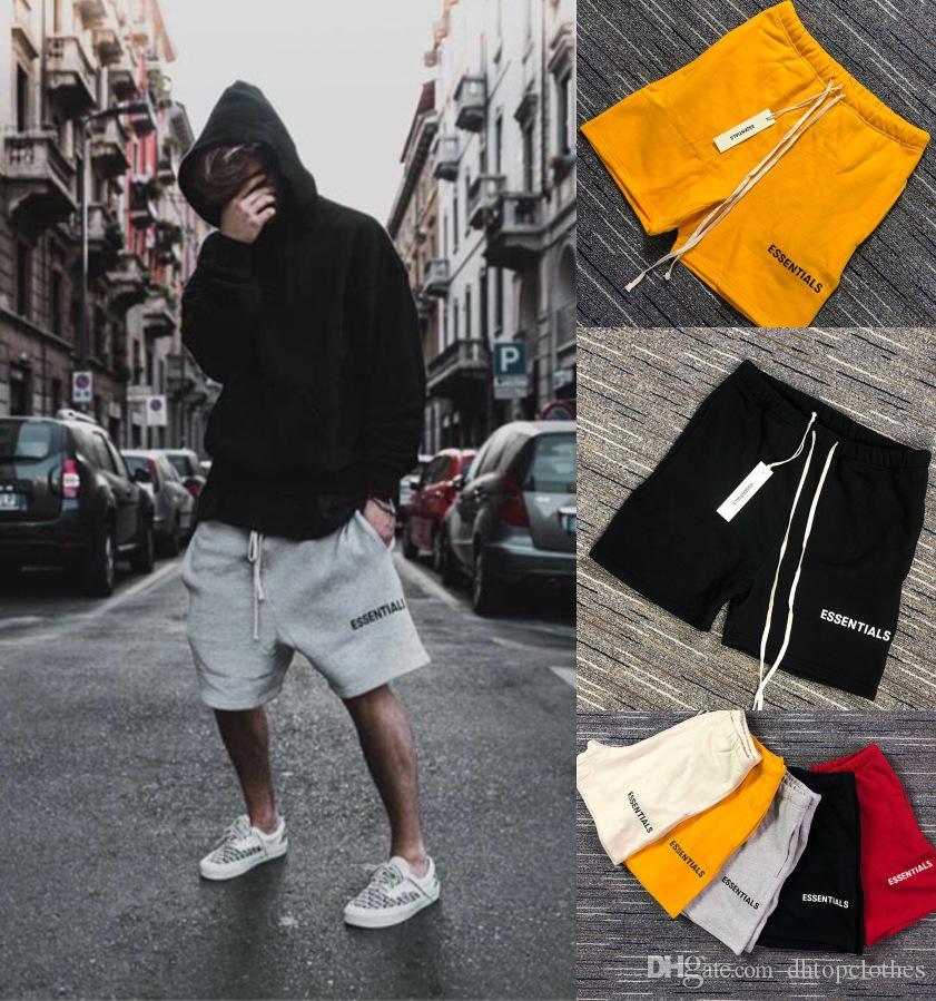 FOG Shorts pour hommes Essentials Mens Shorts Estate pantaloni della tuta in 5 colori lettera stampata con coulisse Casual Shorts Pantaloni sportivi Relaxed