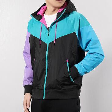 El verano del diseñador para hombre de las chaquetas rompevientos Deportes Marca remiendo Coats Imprimir cremallera sudaderas corrientes al aire libre de desgaste 20030602CE