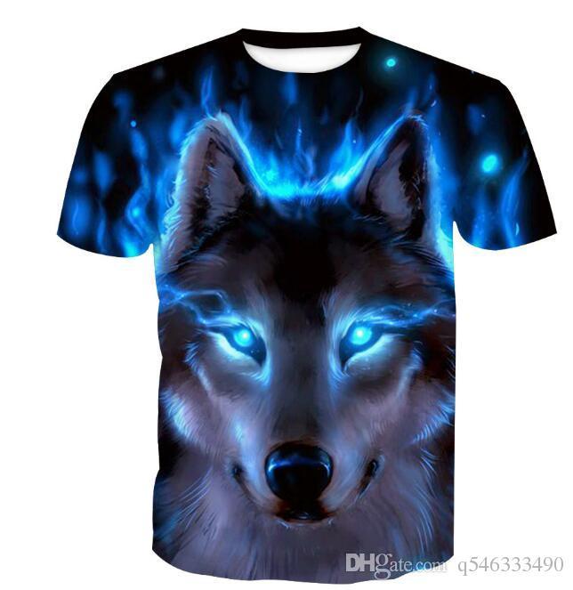 T-shirt da uomo Digital 3D uomo T-shirt stampata Tide bicchierino di marca Maglietta a maniche
