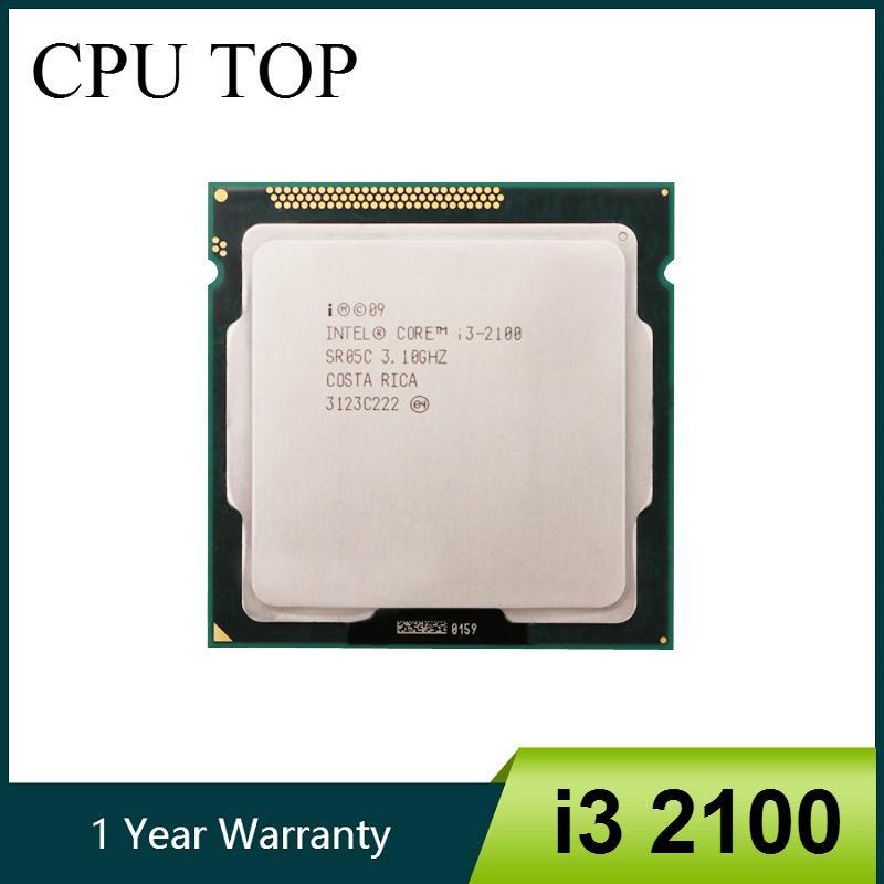Computer Components CPUs Intel Core i3 2100 Processor 3.1GHz 3MB Cache Dual Core Socket 1155 Desktop CPU