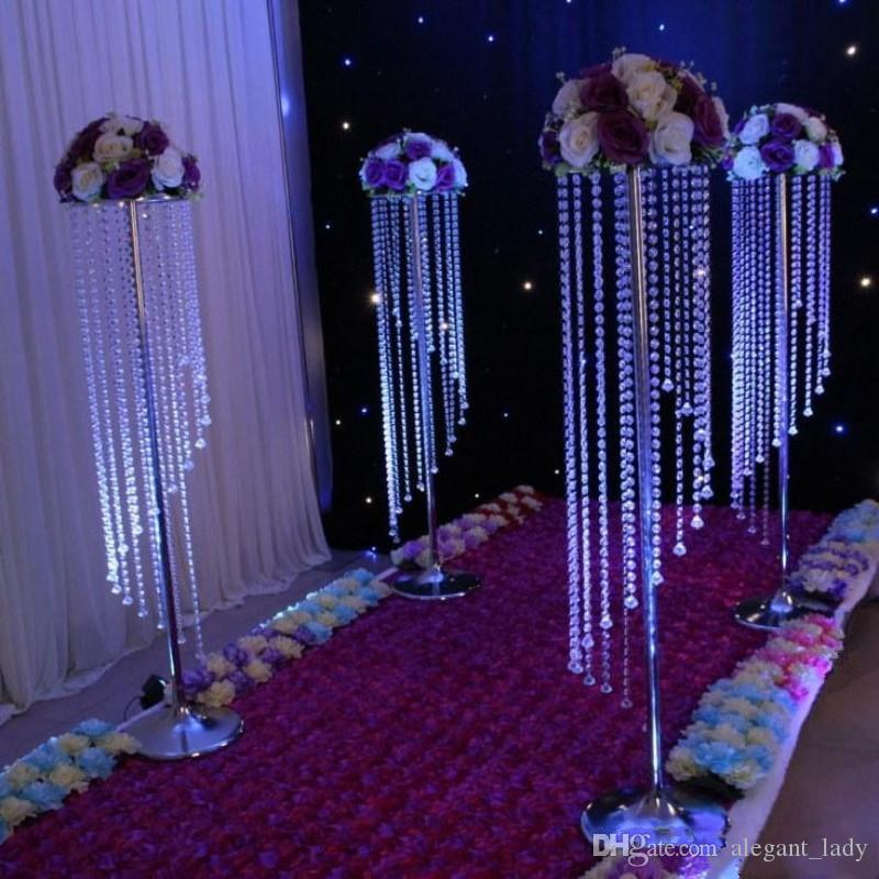 Sale by Bulk Sparkling Crystal clear garland chandelier wedding cake stand birthday party supplies decorations for table top Centerpieces