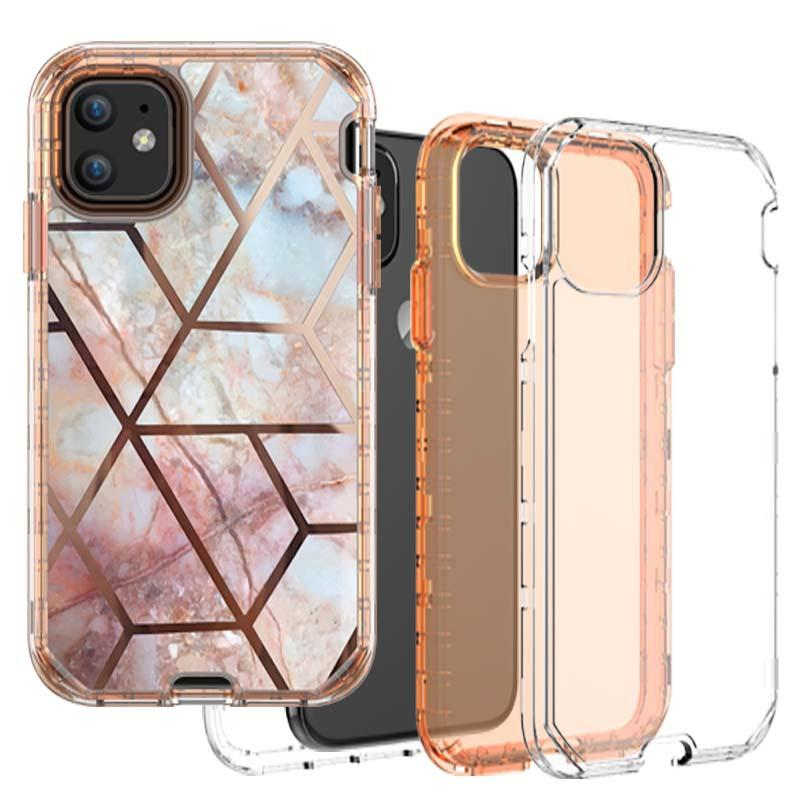 Hybrid Defender Rugged Impact 3 in 1 Shockproof Heavy Duty Armor Hard Case for Samsung Note 10 Plus Iphone 11 Pro Max