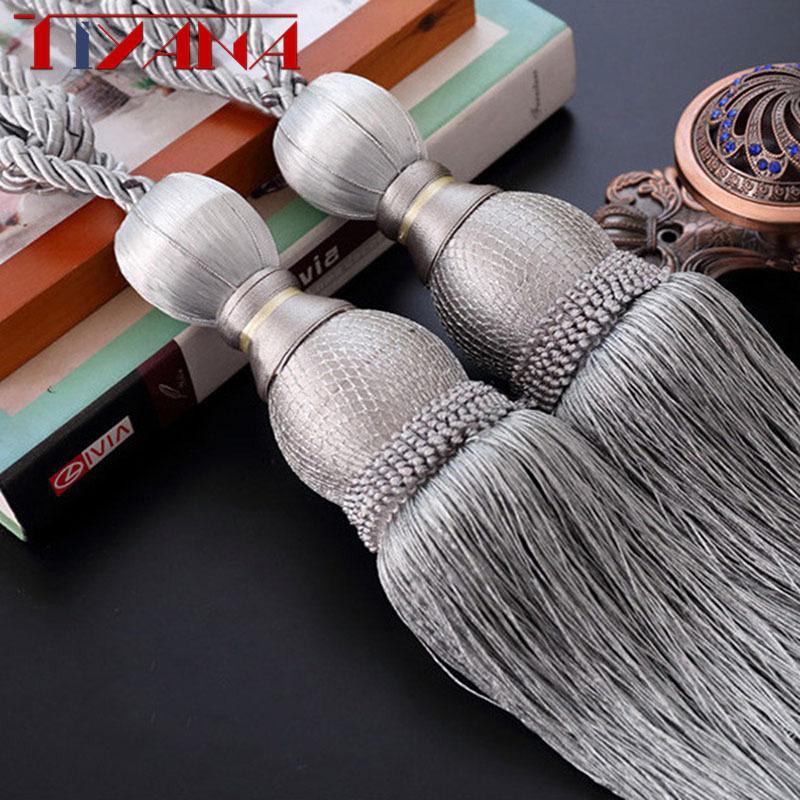 창 커튼 tieback 커튼 커튼 거실 침실 cp06340의 T200601에 대한 홀더 장식 커튼 개의 Tassels Tiebacks 매달려 공