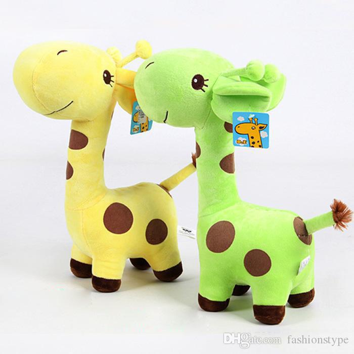 18cm giraffe doll plush toys crystal ultra soft short plush color dot toy deer free shipping