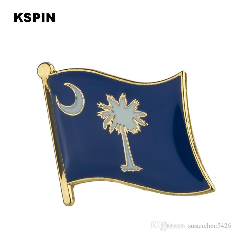 미국 사우스 캐롤라이나 켄터키 주 배지 플래그 배지 플래그 배낭 핀 lapal 핀 옷 1PC XY0204