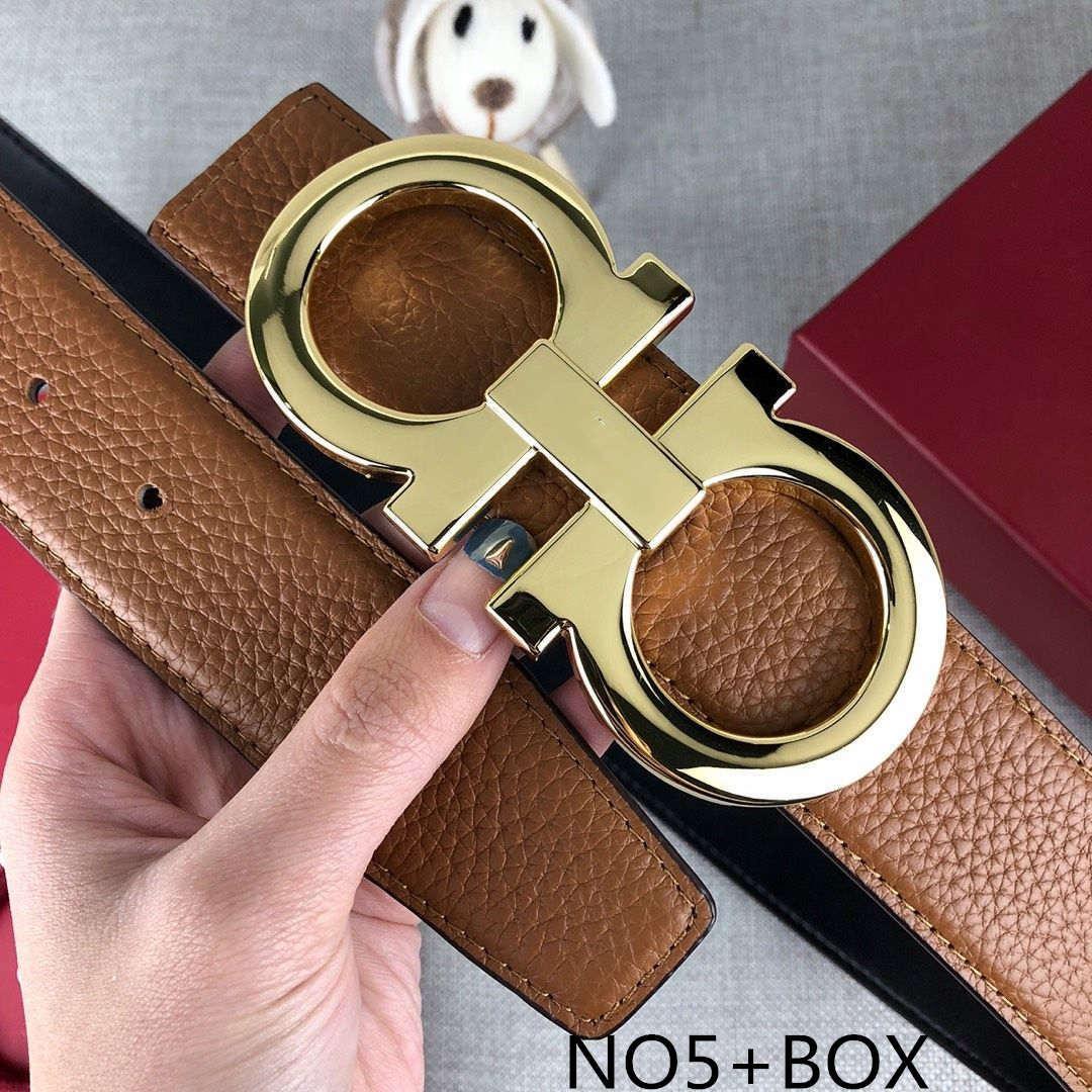 Hot Brand Ceintures d'hommes de ceinture Femmes de luxe Marque lettres lisse boucle 14 Styles Baudrier de haute qualité avec la boîte