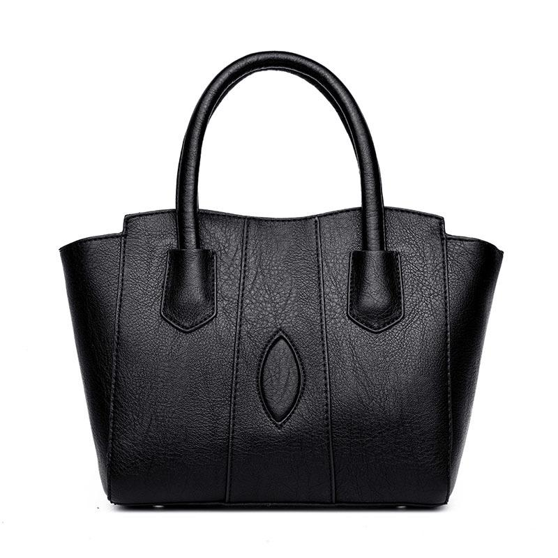 Hombro de las señoras bolsa de PU de alta calidad de mediana edad sencillo bolso de la madre de la mujer y de gran capacidad delicada mensajero del bolso