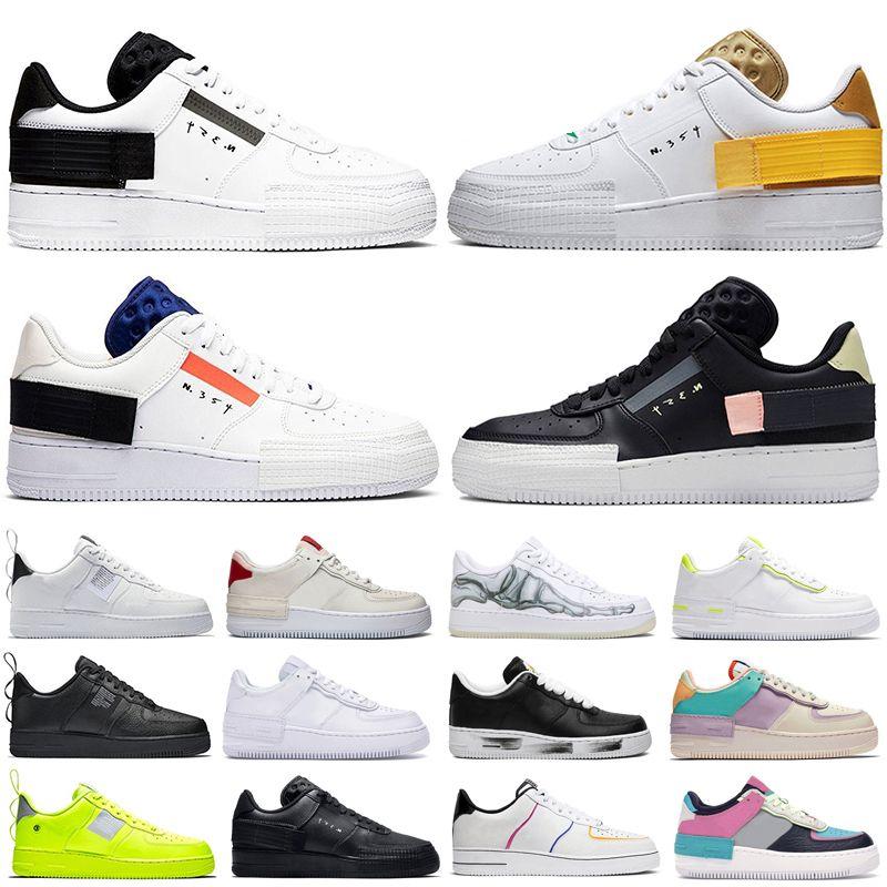 Nike air force 1 Sesame running shoes core triplo preto branco CNY Primeknit Runner moda ultraboost instrutor de esportes das mulheres dos homens tênis 36-45