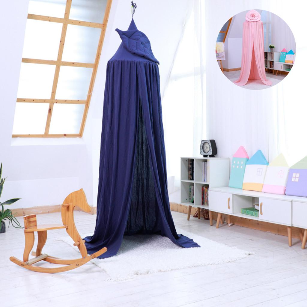 Hanging Kids Baby Princess Canopy Crib Netting Dome Bed Mosquito Net Bedcover Curtain For Baby Kids Reading Playing Home Decor