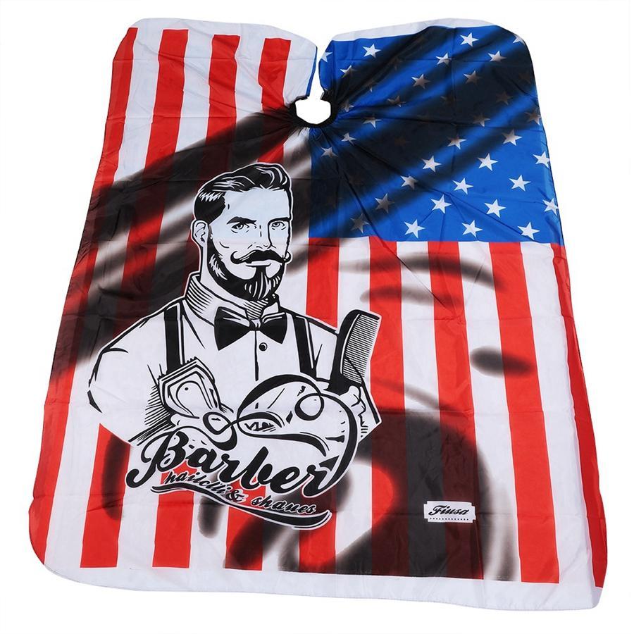 الأزياء usa flag حلاقة الشعر القماش تصفيفة الشعر أمريكا أعلام الحلاق مآزر تصفيف الشعر أداة حلاقة الرؤوس TTA1679