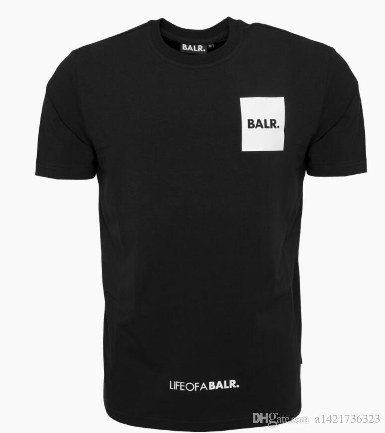 BALR T SHIRT verão LOAB bandeira tshirt BALRED t-shirt das mulheres dos homens harajuku 100% algodão de manga curta camiseta hit hop roupas de roupas de fundo redondo
