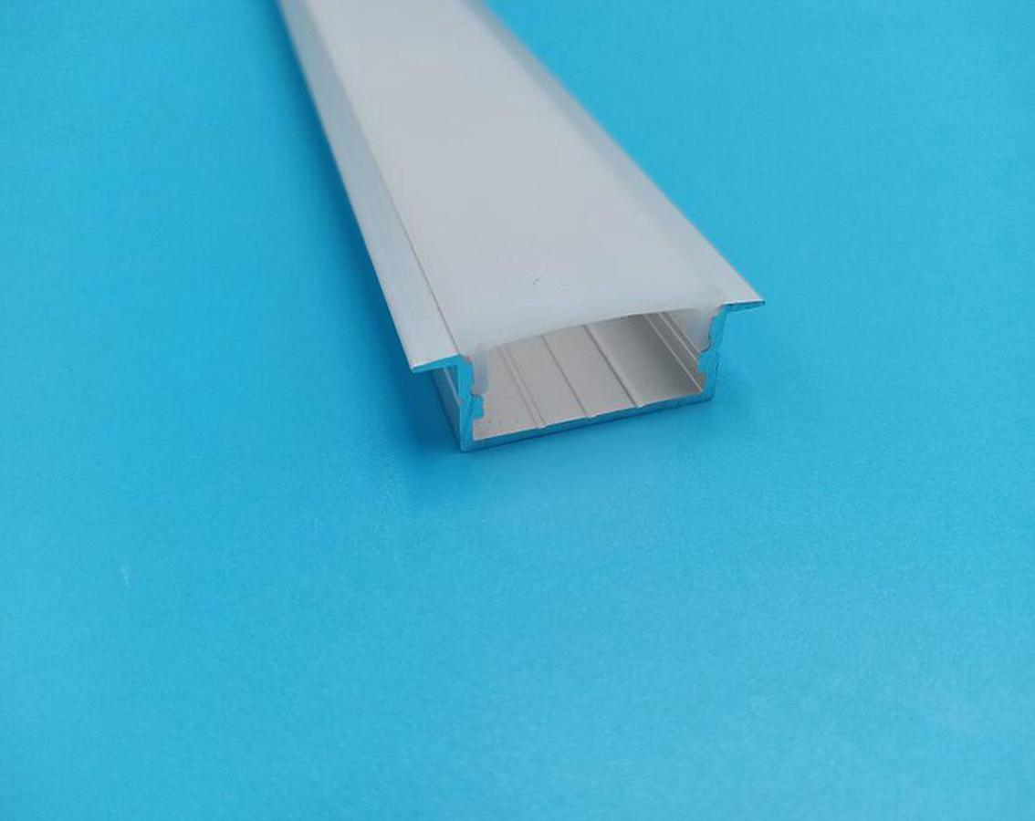 Frete Grátis Custo Forma Lâmina LED Perfil Rígido Slot de Alumínio 2M Comprimento com tampa e tampa final para luz de tira LED